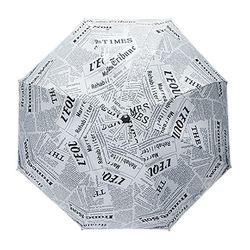 레터링 화이트 장우산 (UV차단자동우산)