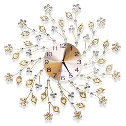 무소음 철제벽시계 골드&큐빅 G05 인테리어벽시계