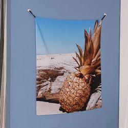 파인애플 패브릭 포스터. 가리개 커튼 (L)