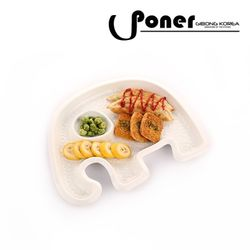 [포너] 메이즈 엠보 분할접시 코끼리 C0703PNOM PONER