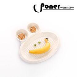 [포너] 메이즈 엠보 분할접시 개구리 C0705PNOM PONER
