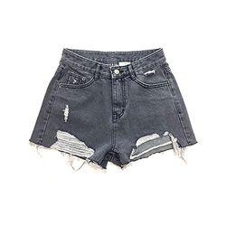 Smoky Black Denim Shorts