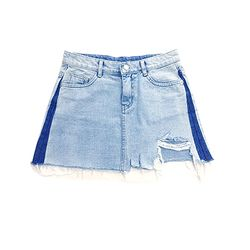 Color Blocking Denim Skirt(GIRLS)