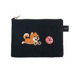 donut shiba card pouch