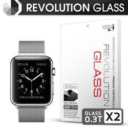 레볼루션글라스 0.3T 강화유리 액정필름 애플워치1