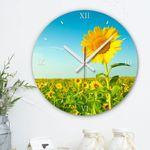 ch527-해바라기꽃밭인테리어벽시계