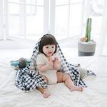 코니테일 퓨어 거즈블랭킷-네이비체크(여름아기이불)