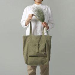 [The Zero] P.1 eco bag (forest khaki)