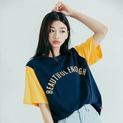 COLOR BLOCK SST NAVY YELLOW