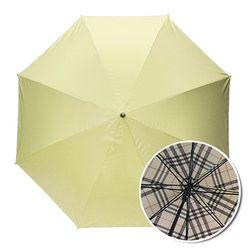 인사이드체크 옐로우 자동장우산 UV차단 양우산