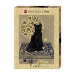 1000조각 직소퍼즐 - 검은 고양이 (HE29719)