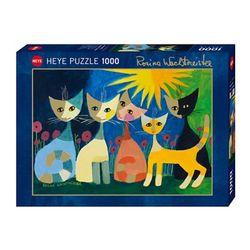 1000조각 직소퍼즐 - 컬러풀 고양이 가족 (HE29772)