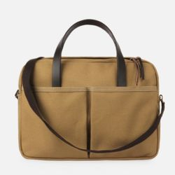 Vintage Brief Bag Super Oxford Beige
