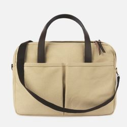 Vintage Brief Bag Super Oxford Ivory