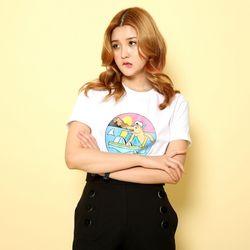 슈퍼크록 오마이갓 티셔츠 화이트