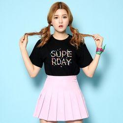 슈퍼크록 슈가팝 티셔츠 블랙