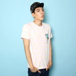 슈퍼크록 그린라이터 티셔츠 핑크