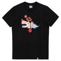 슈퍼크록 크레이지 삐에로 티셔츠 블랙