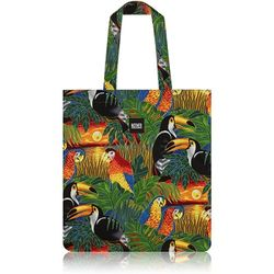 Tropical Birds Flat Tote Bag
