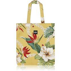 Layla Hawaiian Flat Tote Bag (Daffodil Yellow)