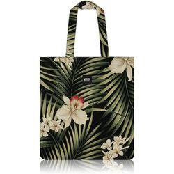 Fern Hawaiian Flat Tote Bag (Black)