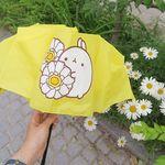 몰랑 3단 우산 - 몰랑과 하얀꽃송이