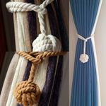 왕방울 밧줄 커튼끈 커튼장식 2P
