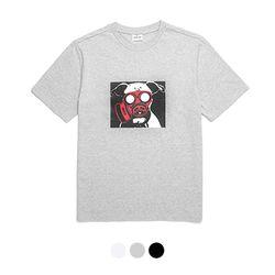바리케이트 DOG나염 티셔츠 - 그레이