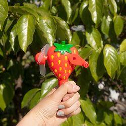 과일 자가발전 선풍기