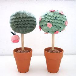 손뜨개 DIY- 솜사탕 꽃나무&사과나무