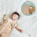 [무료배송/선물박스증정] 오가닉사계절수면조끼세트(애착인형아기정글+선물박스