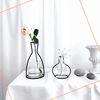 Nude Vase (H230) + Glass Vase