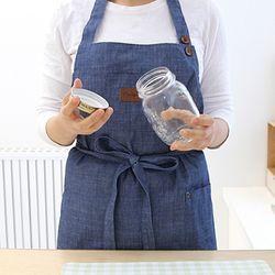 블루청 포켓 앞치마