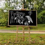 칠판보드 카페입간판 블랙원목(50x70cm)