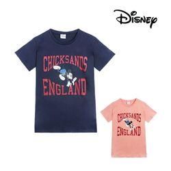 칙샌즈 잉글랜드 미키 여름 여성 반팔 티셔츠디즈니