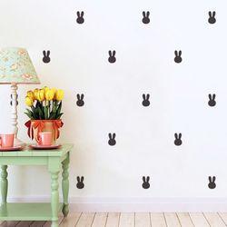 토끼 1번 패턴 월 데코스티커
