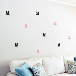 토끼 2번 패턴 월 데코스티커