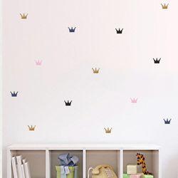 왕관 패턴 월 데코스티커