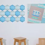 DIY 아트쿠션타일 육각형
