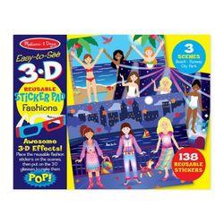 3D 패션 놀이 스티커 세트