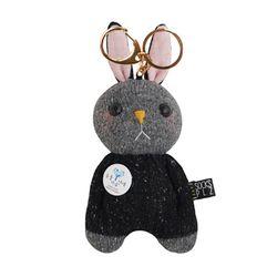 [[양말인형]삑삑이 토끼 래빗정 키링(블랙)