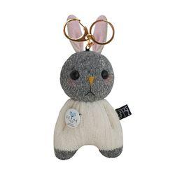 [양말인형]삑삑이 토끼 래빗정 키링(화이트)