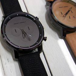 모노크로와치-달러맨남자가죽시계손목시계크로노시계
