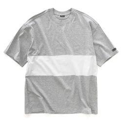 [레이쿠] overfit tshirt gw 배색오버핏 무지반팔티