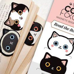 CAT FACE 마그네틱 북마크