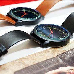 네이비아미 시계359-달러맨남자손목시계 가죽밴드시계
