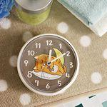 (kska019)고양이 욕실 흡착시계 (카푸치노)