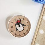 (kska023)펭귄 욕실 흡착시계 (카푸치노)