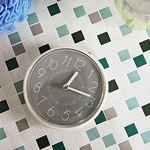 (kska029)심플 욕실흡착시계(그레이)