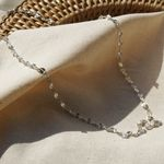 silver moss necklace